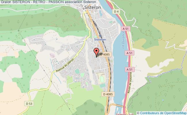 plan association Sisteron - Retro - Passion