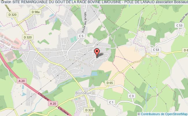 plan association Site Remarquable Du Gout De La Race Bovine Limousine - Pole De Lanaud