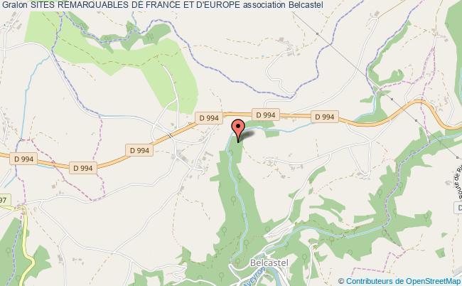 plan association Sites Remarquables De France Et D'europe Belcastel