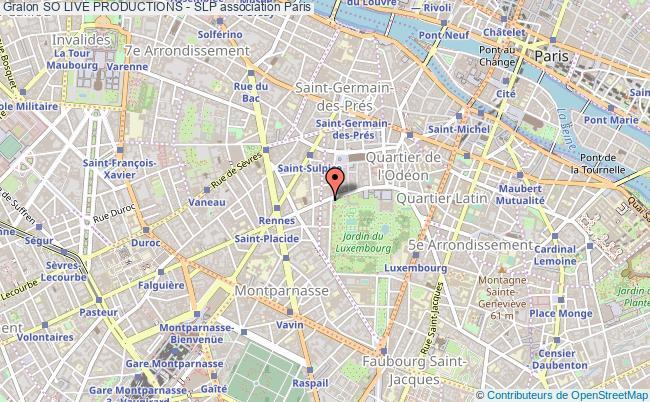 plan association So Live Productions - Slp Paris