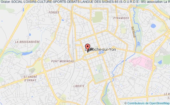 plan association Social-loisirs-culture-sports-debats-langue Des Signes-85 (s.o.u.r.d.s.- 85) La    Roche-sur-Yon