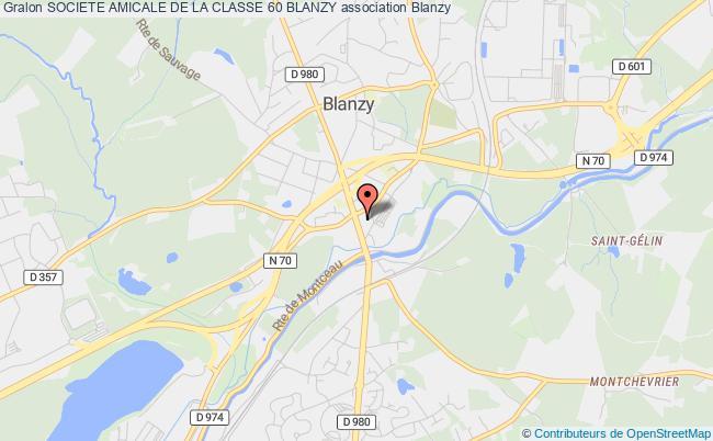 plan association Societe Amicale De La Classe 60 Blanzy