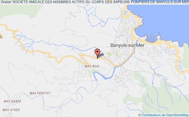 plan association Societe Amicale Des Membres Actifs Du Corps Des Sapeurs Pompiers De Banyuls Sur Mer