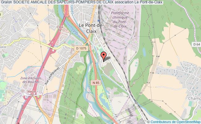 plan association Societe Amicale Des Sapeurs-pompiers De Claix Le    Pont-de-Claix