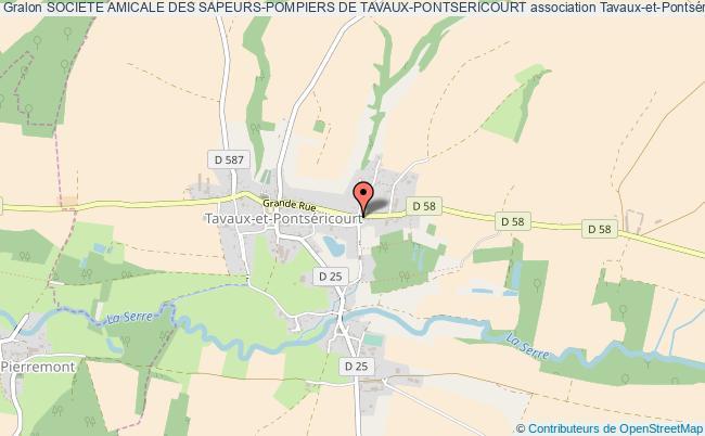 plan association Societe Amicale Des Sapeurs-pompiers De Tavaux-pontsericourt