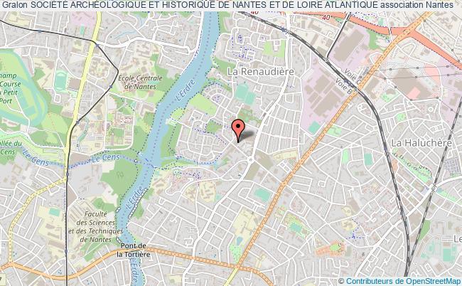 plan association SociÉtÉ ArchÉologique Et Historique De Nantes Et De Loire Atlantique