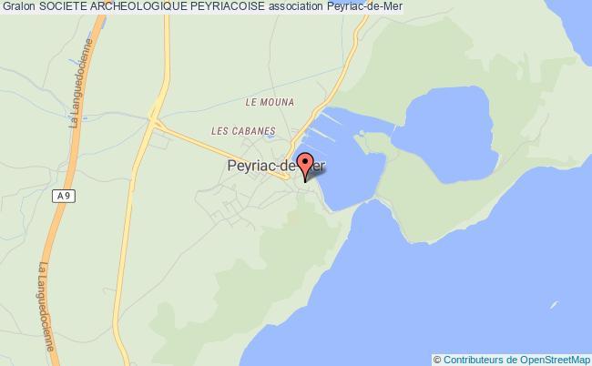 plan association Societe Archeologique Peyriacoise Peyriac-de-Mer
