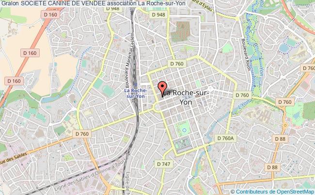 plan association Societe Canine De Vendee La    Roche-sur-Yon