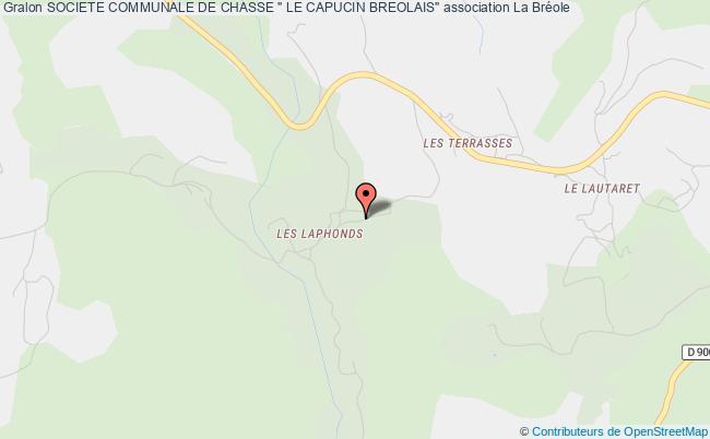 """plan association Societe Communale De Chasse """" Le Capucin Breolais"""""""