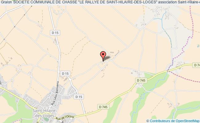 """plan association Societe Communale De Chasse """"le Rallye De Saint-hilaire-des-loges"""""""