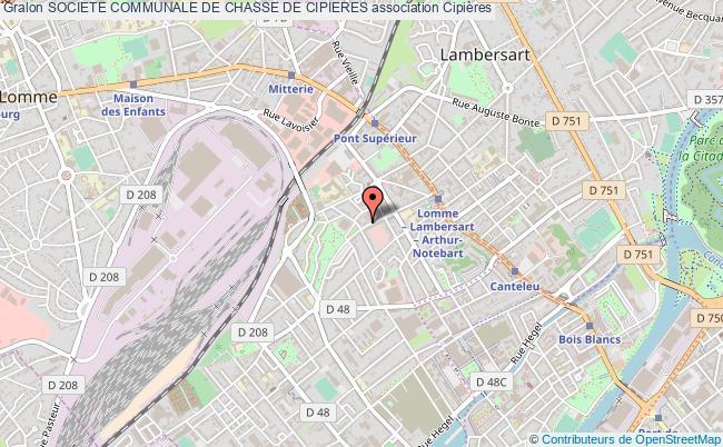 plan association Societe Communale De Chasse De Cipieres Cipières