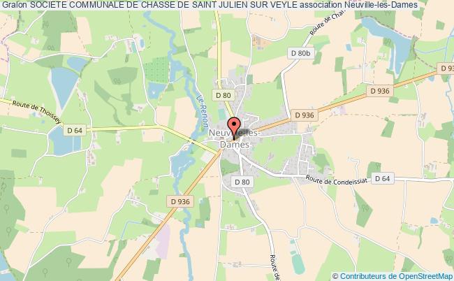 plan association Societe Communale De Chasse De Saint Julien Sur Veyle Neuville-les-Dames