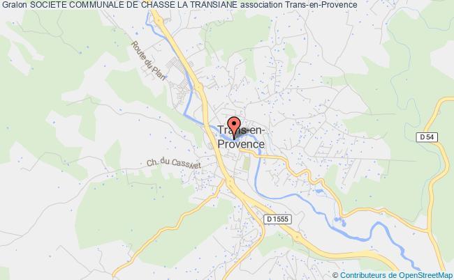 plan association Societe Communale De Chasse La Transiane Trans-en-Provence