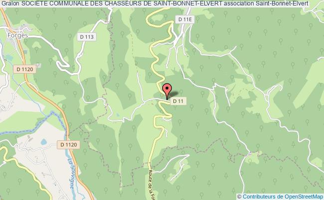 plan association Societe Communale Des Chasseurs De Saint-bonnet-elvert