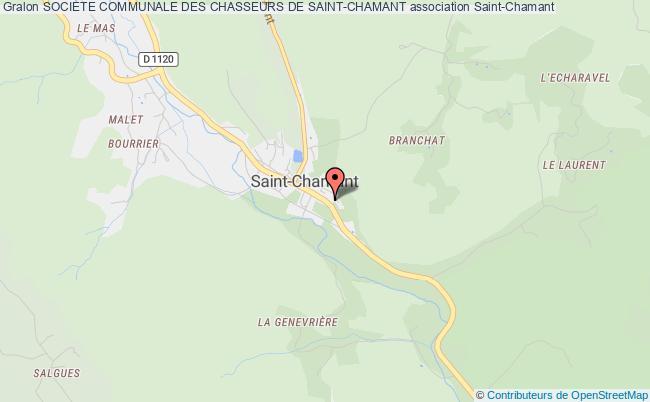 plan association Societe Communale Des Chasseurs De Saint-chamant