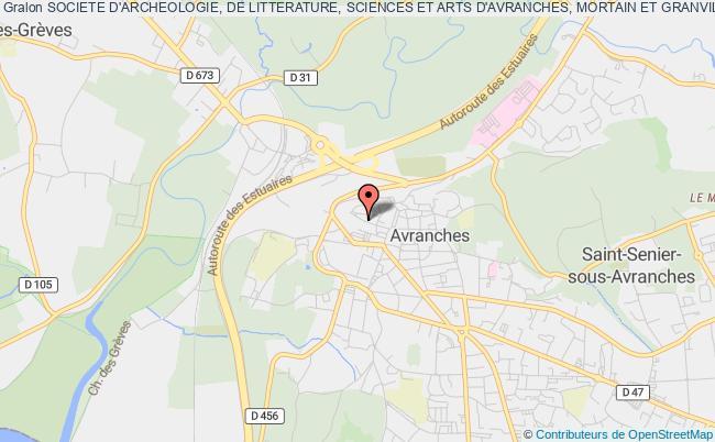 plan association Societe D'archeologie, De Litterature, Sciences Et Arts D'avranches, Mortain Et Granville
