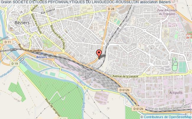 plan association Societe D'etudes Psychanalytiques Du Languedoc-roussillon Béziers