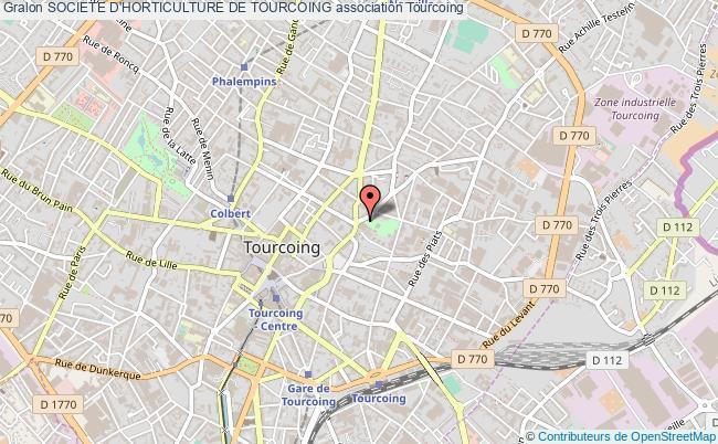 plan association Societe D'horticulture De Tourcoing