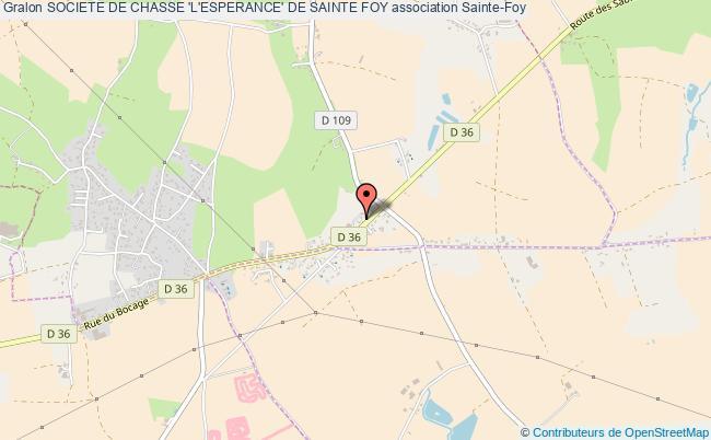 plan association Societe De Chasse 'l'esperance' De Sainte Foy Sainte-Foy