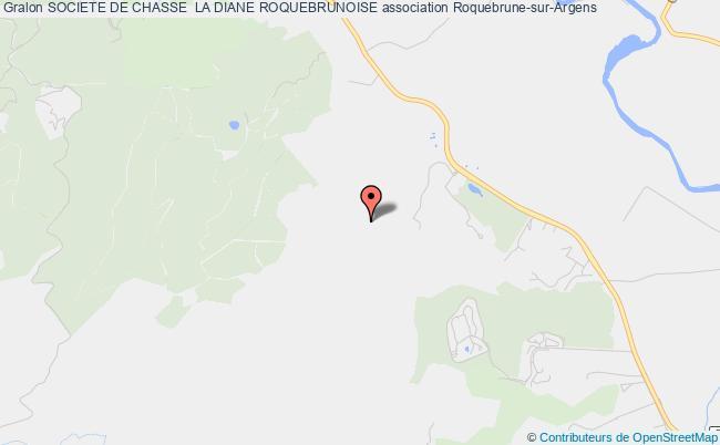 plan association Societe De Chasse  La Diane Roquebrunoise Roquebrune-sur-Argens