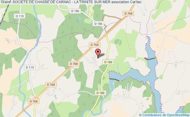 plan association Societe De Chasse De Carnac - La Trinite Sur Mer