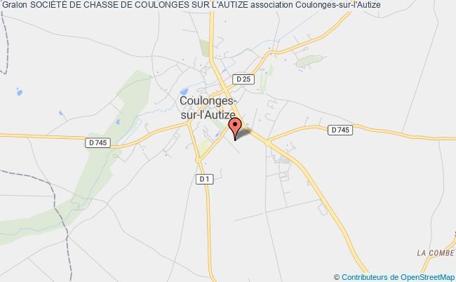 plan association SociÉtÉ De Chasse De Coulonges Sur L'autize