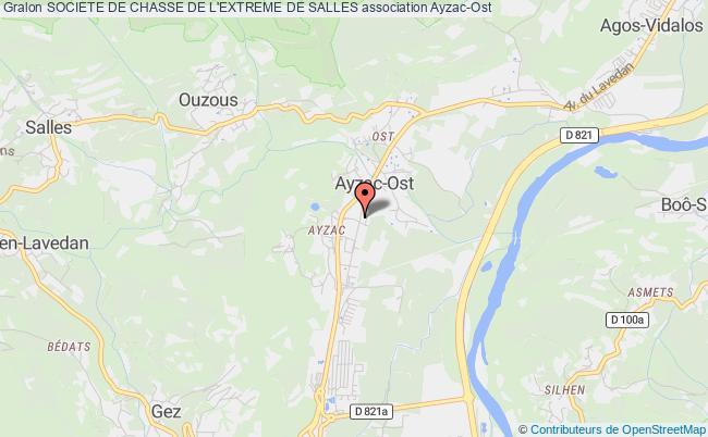 plan association Societe De Chasse De L'extreme De Salles Ayzac-Ost