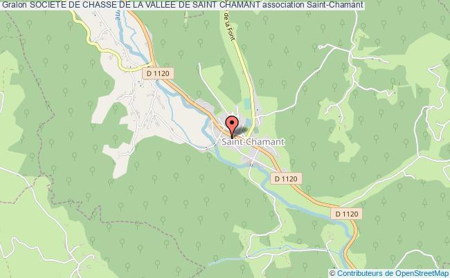 plan association Societe De Chasse De La Vallee De Saint Chamant