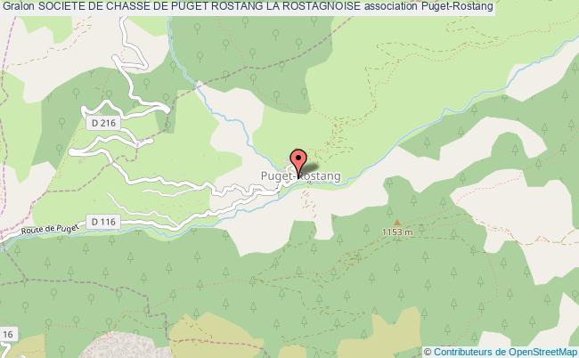 plan association Societe De Chasse De Puget Rostang La Rostagnoise Puget-Rostang