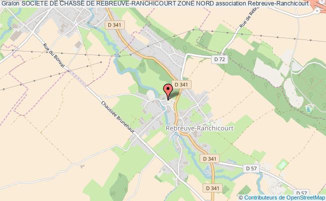 plan association Societe De Chasse De Rebreuve-ranchicourt Zone Nord