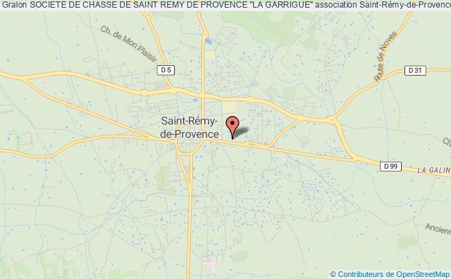 """plan association Societe De Chasse De Saint Remy De Provence """"la Garrigue"""""""