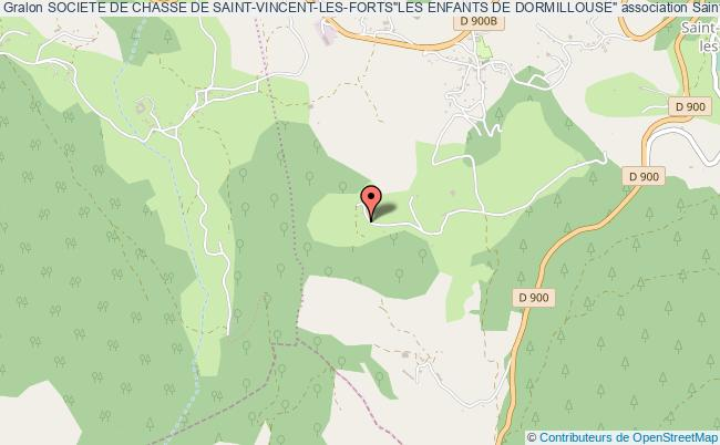 """plan association Societe De Chasse De Saint-vincent-les-forts""""les Enfants De Dormillouse"""" Saint-Vincent-les-Forts"""