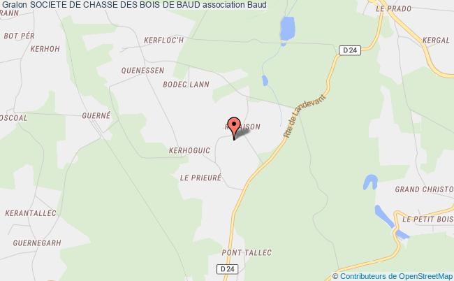 plan association Societe De Chasse Des Bois De Baud Baud