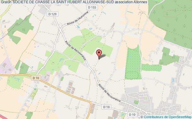 plan association Societe De Chasse La Saint Hubert Allonnaise-sud