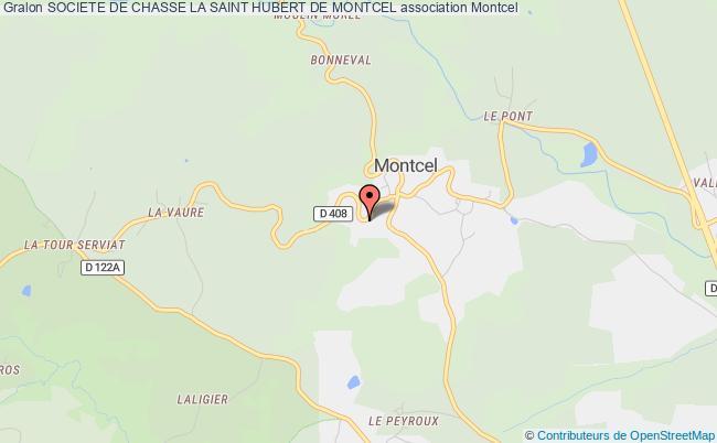 plan association Societe De Chasse La Saint Hubert De Montcel