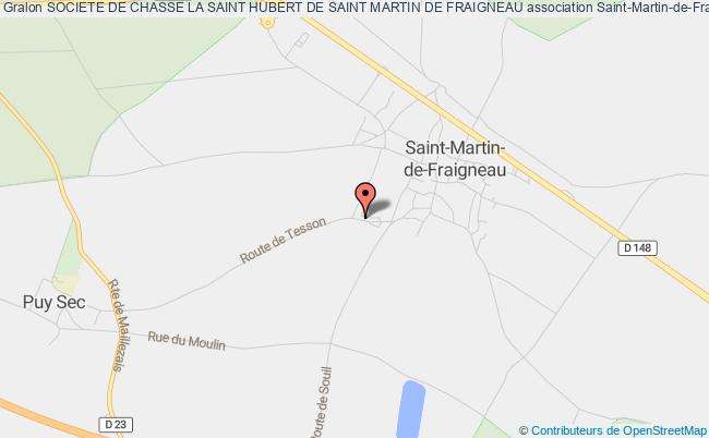 plan association Societe De Chasse La Saint Hubert De Saint Martin De Fraigneau