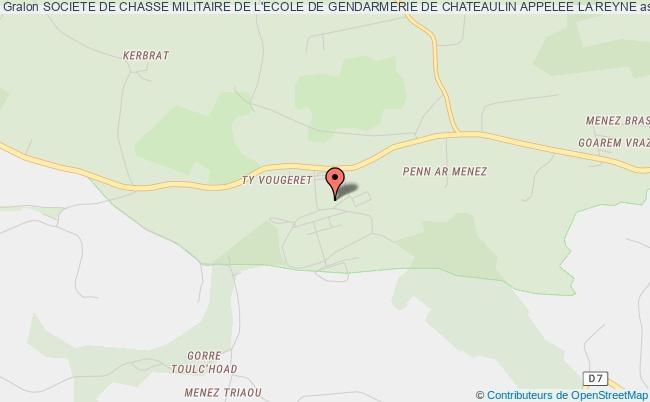 plan association Societe De Chasse Militaire De L'ecole De Gendarmerie De Chateaulin Appelee La Reyne