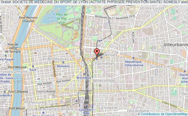 plan association Societe De Medecine Du Sport De Lyon (activite Physique Prevention Sante) Somesly