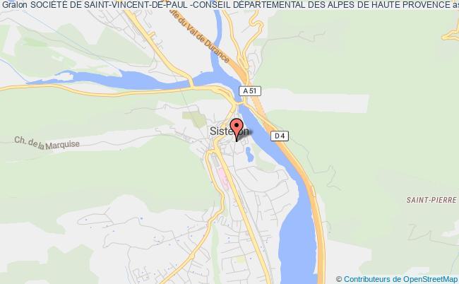 plan association SociÉtÉ De Saint-vincent-de-paul -conseil DÉpartemental Des Alpes De Haute Provence