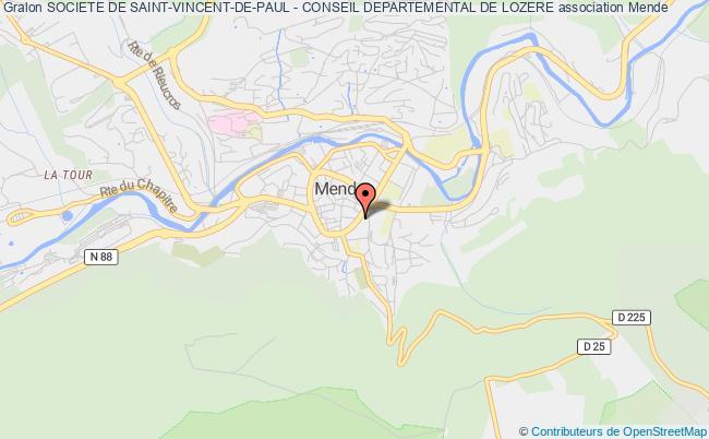 plan association Societe De Saint-vincent-de-paul - Conseil Departemental De Lozere