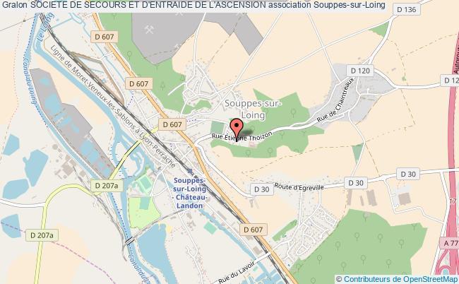 plan association Societe De Secours Et D'entraide De L'ascension Souppes-sur-Loing