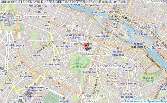 plan association Societe Des Amis Du President Gaston Monnerville Paris