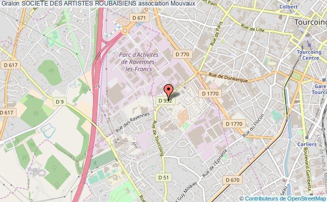 plan association Societe Des Artistes Roubaisiens