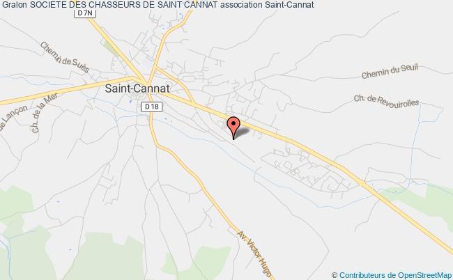 plan association Societe Des Chasseurs De Saint Cannat