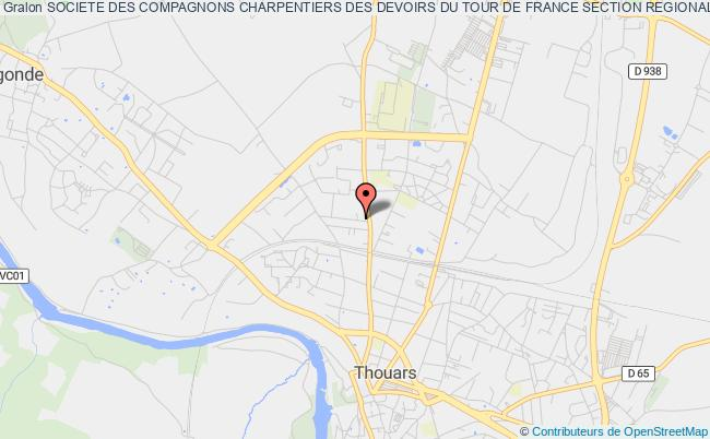 plan association Societe Des Compagnons Charpentiers Des Devoirs Du Tour De France Section Regionale De Thouars