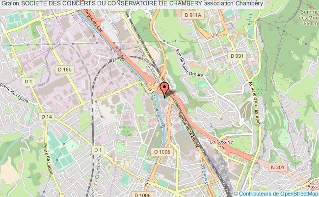 plan association Societe Des Concerts Du Conservatoire De Chambery