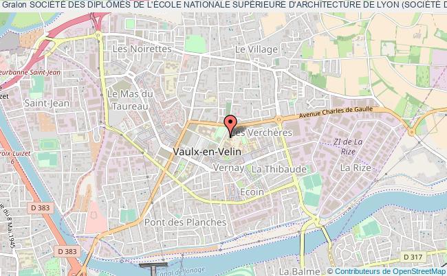 plan association SociÉtÉ Des DiplÔmÉs De L'École Nationale SupÉrieure D'architecture De Lyon (sociÉtÉ Des DiplÔmÉs)