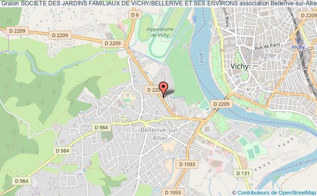 plan association Societe Des Jardins Familiaux De Vichy/bellerive Et Ses Environs
