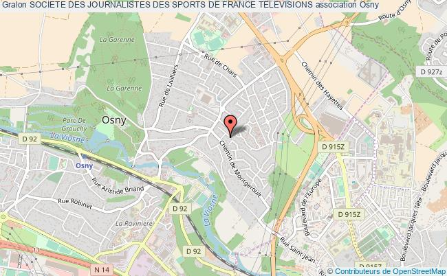 plan association Societe Des Journalistes Des Sports De France Televisions Osny