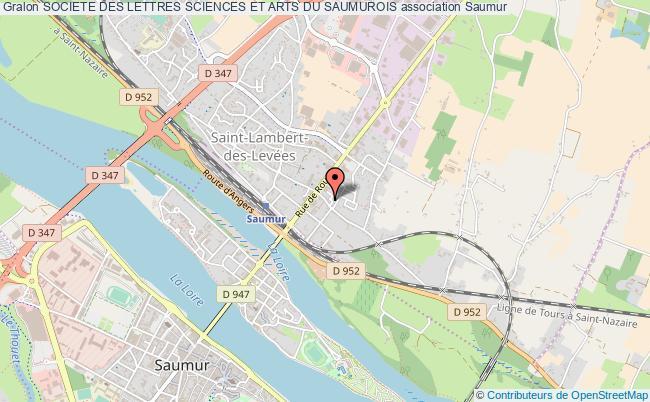 plan association Societe Des Lettres Sciences Et Arts Du Saumurois